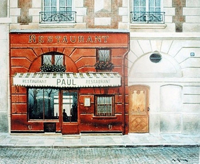 """Restaurant Paul"" after Andre Renoux (372)"