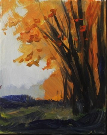 """Acrylic on Canvas """"Falls Leaves"""" by Michael Schofield"""