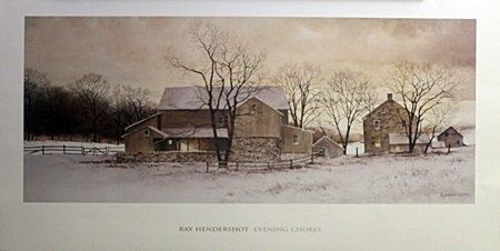 "Print ""Evening Chores"" After Ray Hendershot (5A)"