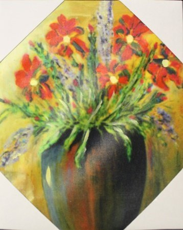 "Giclee on Canvas ""Vase of Flowers II"" (6F)"