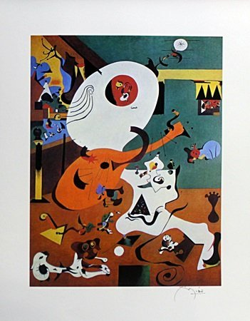 Lithograph After  Joan Miro (6E)