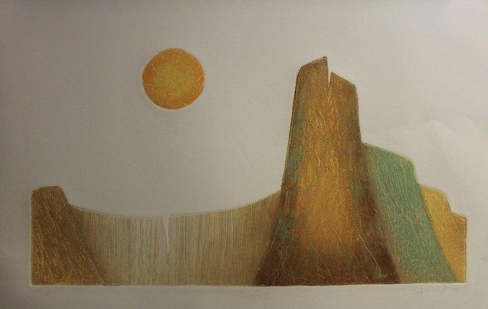 "Lithograph ""Cuzco II"" After  Ed Ward (132L)"