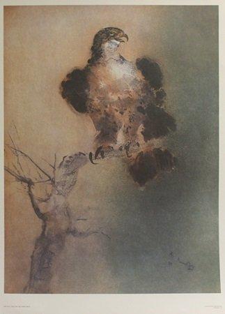 "Lithograph ""Falcon"" After  Kaiko Moti (10L)"