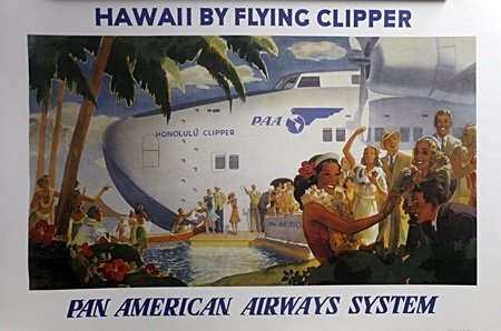 "Fine Art Print ""Hawaii"" After Flying Clipper (12A)"