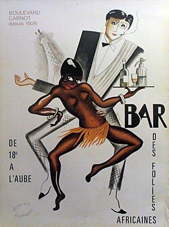"""Fine Art Poster """"Bar Des Folies"""" After Josephine Baker"""