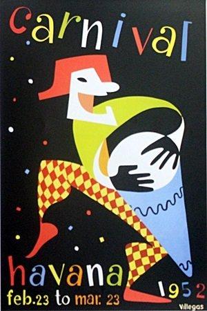 "Fine Art Poster ""Carnival Havana 1952"" After Amanti"