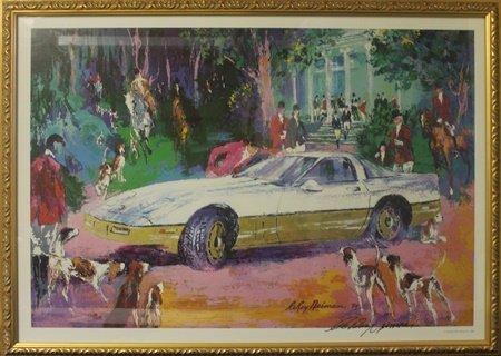 """Lithograph """"Rendezvous a La Corvette"""" after LeRoy"""