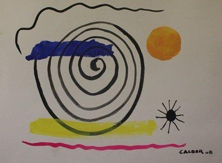 Original Watercolor on Paper by Alexander Calder