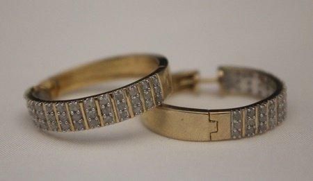 Fancy 14kt over Silver Earrings with Diamonds (27J)