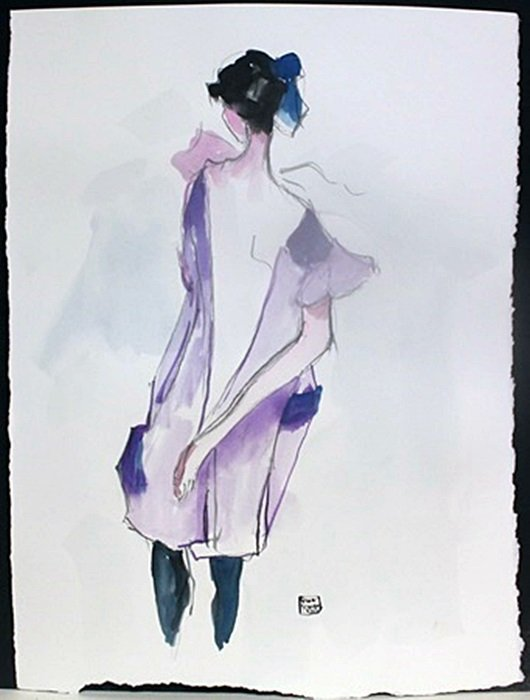 Watercolor Painting; Signed Egon Schiele (365)