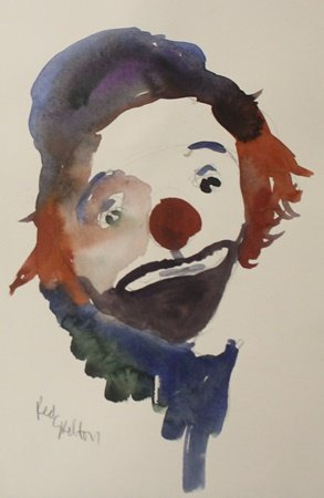 Original Watercolor on Paper by Red Skelton