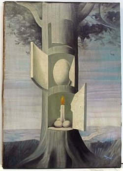 Oil Painting on Canvas by Rene Magritte