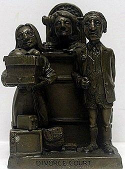 "Bronze ""Divource Court"" - Charles Bragg"