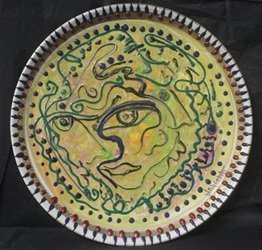 "Original Oil on Ceramic Plate ""Expressions"" by William"