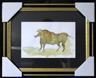 Watercolor Painting on Paper by F. Remington