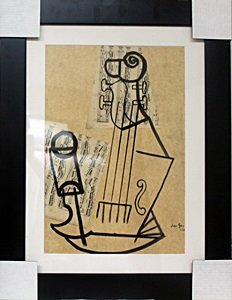 Mixed Media Collage Painting by Juan Gris
