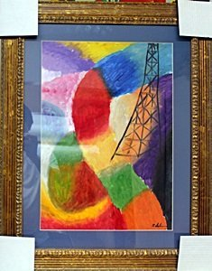 Composition - Oil Painting on Paper by Robert Delaunay