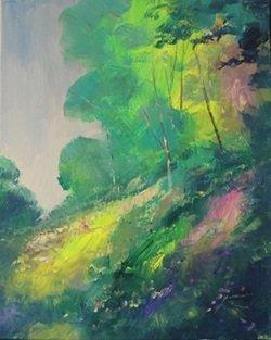 "Acrylic on Canvas ""Spring Break"" by Michael Schofield"