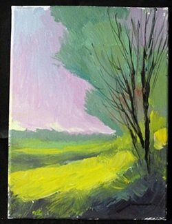 """Original Acrylic Paint on Canvas, """"Lavender Skies"""" by"""