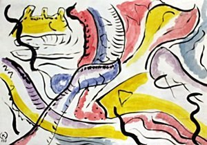 Composition X - Watercolor on Paper - W. Kandinsky