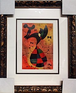 Oil Painting on Laid Paper - Joan Miro