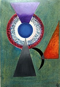 """""""Composition III"""" Oil on Paper - Wassily Kandinsky"""