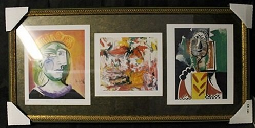 Lithographs 3-in-1 by P. Picasso
