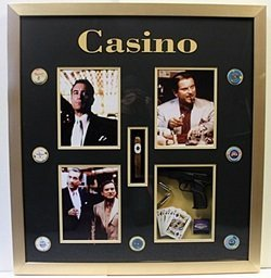 Casino - Movie Photo Collage with Casino Chips and