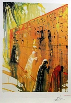 Lithograph - The Wailing Wall - Salvador Dali