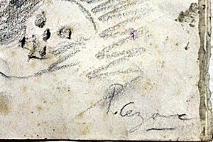 Woman with Skull, 86' - Drawing on Paper - P. Cezanne - 2