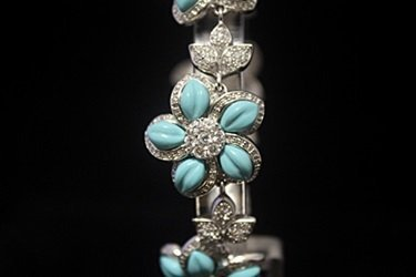 Stunning White Sapphire & Topaz Silver Bracelet - 2