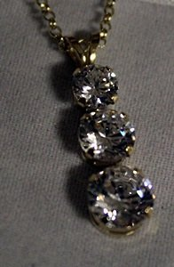 Silver Neckalce set with Russian Cubic Zarconia