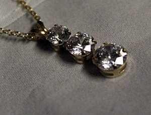 Silver Neckalce set with Russian Cubic Zarconia - 2