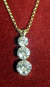 Silver Neckalce set with Russian Cubic Zarconia - 3