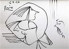 Watercolor Painting - Signed Picasso
