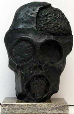"""""""Faces of War"""" Bronze Sculpture - Salvador Dali"""