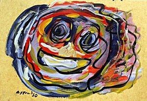 Oil Painting on Paper - Karel Appel 50'