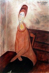 Helena with Red Hair - Pastel on Paper- Amadeo