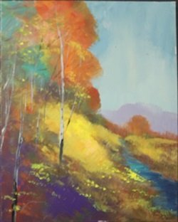 "Acrylic on Canvas ""Autumn in Fall"" by Michael Schofield"