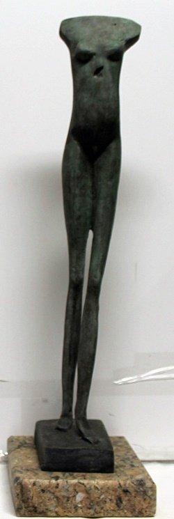 Patina Bronze Sculpture after Alberto Giacometti
