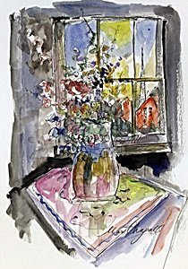 Watercolor Painting by Marc Chagall