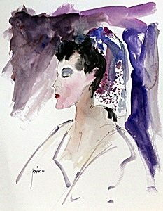 Watercolor Painting on Paper - Pino