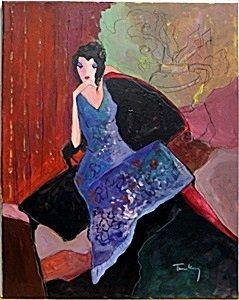 Untitled - Oil Painting on Canvas - Tarkay