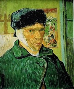 """""""Self-Portrait with Bandaged Ear"""" by Vincent Van Gogh"""