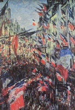 Lithograph Rue Montoqueil - Claude Monet
