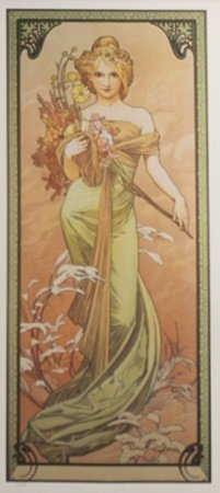 Lithograph Spring Two - Alphonse Mucha