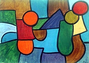 Composition I - Oil Painting - Paul Klee