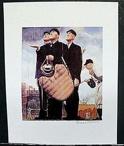 """Lithograph """"Bottom of the Sixth"""" after Norman Rockwell"""