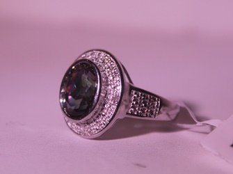 Exquisite Sterling Silver Ring with Lab Alexandrite - 3