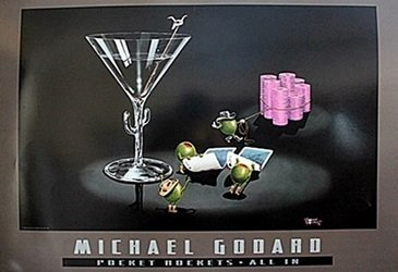 """Pocket Rockets-All In""  after Michael Godard"